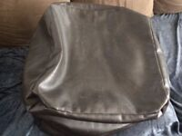 Bean Bag (Brown Faux Leather Square)
