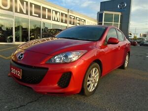 2012 Mazda Mazda3 **HEATED SEATS & SUNROOF** GS SKYACTIV