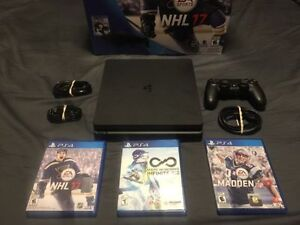 Sony PS4 SLIM NHL 17 MEGA Bundle + 6 NEWER Games + PS LIVE