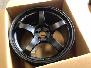ADvan tc3 style rim in black TCIII 18x8 5x114.3 +45 in matt Black