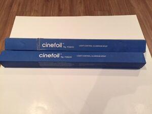Cinefoil, papier noir opaque pour cacher la lumière en Cinéma.