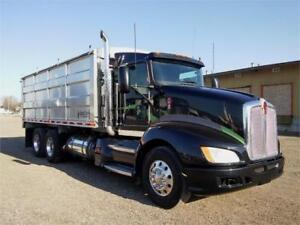 Kenworth 2012 T660 New Argilite  20' Aluminum Grain Box