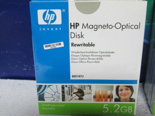HP 5.2Gb Rewritable Optical Disk 88147J             LOT OF 4
