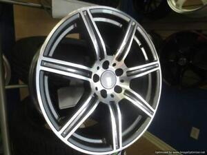 17 inch Mercedes SLS Rep Wheels -- 5x112 Gunmetal Machined