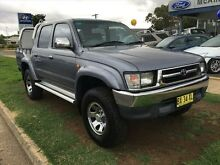 2000 Toyota Hilux RZN169R SR5 (4x4) Grey 5 Speed Manual 4x4 Dual Cab Pick-up Young Young Area Preview
