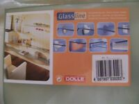Dolle Glassline Shelf and 2 x Dolle Ara Shelf Brackets in white- NEW