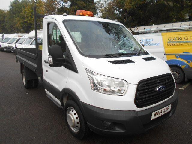 Ford Transit T350 SINGLE CAB DROPSIDE TIPPER 2.2 Tdci 100Ps DIESEL WHITE (2014)