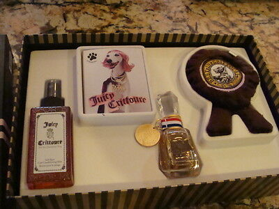 JUICY CRITTOURE by Juicy Couture Gift Set for DOG Parfume, Conditioner, Chew Toy