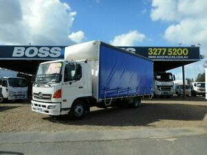 2009 Hino FD 500 Series 1024 White Curtain Sider 7.6l 4x2 Rocklea Brisbane South West Preview