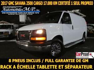 2017 GMC Savana 2500 CARGO RACK A ECHELLE TABLETTE 8 PNEUS INCLU