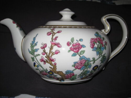 Aynsley Teapot ~  really pretty with pink and blue flowers ~ GOLD trim ~