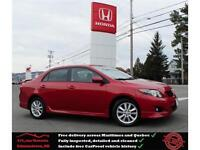 2010 Toyota Corolla S, Remote Start, Spoiler, One Owner !!