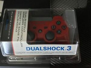 Ps3 manette rouge dualschok 3 - 35$