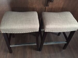 Two studded counter stools - moving sale