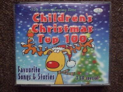 Children's Christmas Top 100 3CDs childrens, kids, nursery, songs FREE UK POST ()