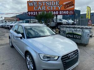 2013 Audi A3 8P MY13 Sportback 1.6 TDI Attraction Silver 7 Speed Automatic Hatchback Hoppers Crossing Wyndham Area Preview