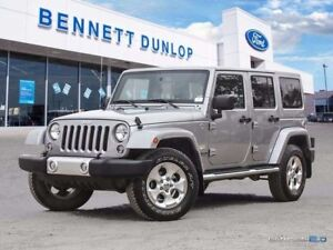2015 Jeep Wrangler Unlimited Sahara-Heated Leather Seats-UConnec