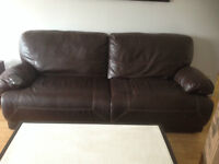 Lazy boy 4 seat leather couch