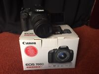 Canon Eos 700D with One Year extended Guarantee on parts and repair
