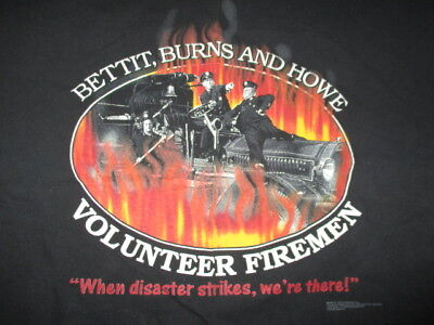 2001 THE THREE STOOGES Bettit, Burns and Howe (LG) Shirt MO LARRY CURLY Firemen