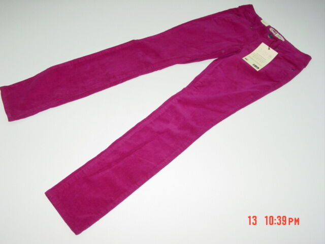 Juniors Lei Ashley Lowrise Dark Red Corduroy Pants Cords Size 13 5 ...