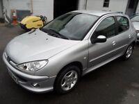 PEUGEOT 206 1.4 SPORT S 5d 88 BHP DAMAGE CAT D (silver) 2006