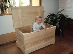 Barn board trunk / pine toy boxes