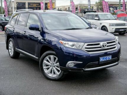 2012 Toyota Kluger GSU40R MY12 Grande 2WD Blue 5 Speed Sports Automatic Wagon Penrith Penrith Area Preview