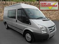 2012 FORD TRANSIT CREW VAN 280 MWB Med Roof TREND 125ps 6 Seats