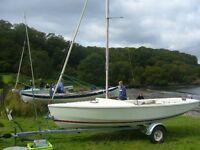 Wayfarer Mk2 sailing dinghy set up for cruising