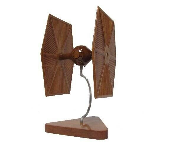 Star Wars Imperial Tie Fighter Spaceship Starship Mahogany Wood Wooden Model New