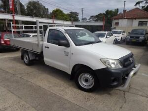 2008 Toyota Hilux TGN16R 08 Upgrade Workmate White 5 Speed Manual Cab Chassis Sylvania Sutherland Area Preview