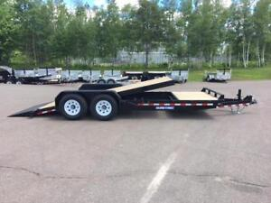 NEW 2018 SURE-TRAC 7' x 20' HD SPLIT TILT TRAILER