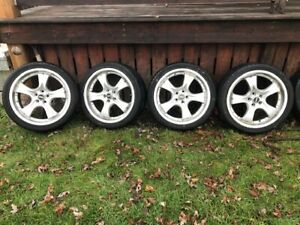 4 Low profile tires with chopper style rims