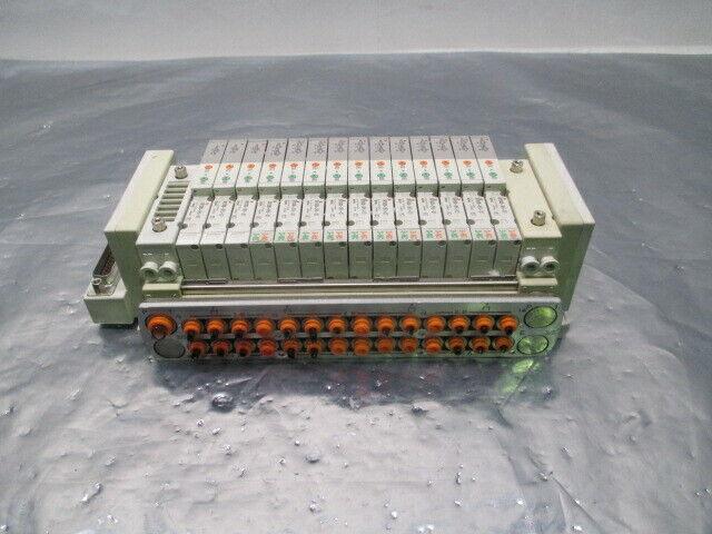 SMC 14 Valve Pneumatic Manifold, SV1A00-5FU-X7, SV1200-5FU-X7, 326199