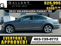 2012 Volkswagen Passat TDI $209 bi-weekly APPLY NOW DRIVE NOW