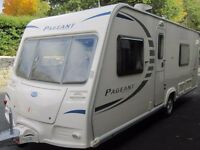 Bailey Pageant Sancerre Fixed Bed Four Berth Touring Caravan