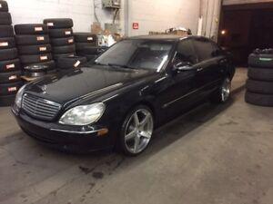 """2001 Mercedes-Benz S600 V12*NOIR SUR NOIR/Cell+Ligne/20"""" ADV.1"""