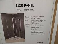 Aquaverre shower side panel 700mm w x 1850mm h