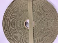 """By the Yard Tan 499 1/"""" Military Nylon Webbing Mil-Spec A-A-55301"""