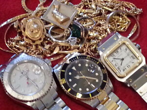 $$$$  ACHETONS L'OR, DIAMANTS, MONTRES___WE BUY WATCHES, GOLD...