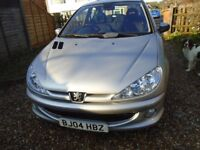 PEUGEOT 206 QUICKSILVER 1400CC SERVICE HISTORY. AS NEW!