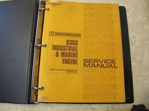 Cat D353 Industrial & Marine Engine Service Manual