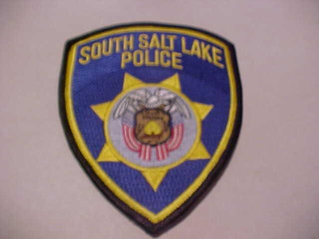 SOUTH SALT LAKE UTAH  POLICE  PATCH  SHOULDER SIZE UNUSED