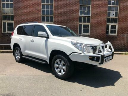 2012 Toyota Landcruiser Prado KDJ150R GXL White Manual Wagon Hamilton North Newcastle Area Preview