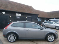 0707 VOLVO C30 1.6D TURBO DIESEL S 3DR SPORT COUPE 87K FSH SILVER/GREY SUPERB