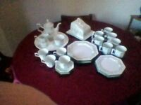 Octagonal dinner service, johnson bros