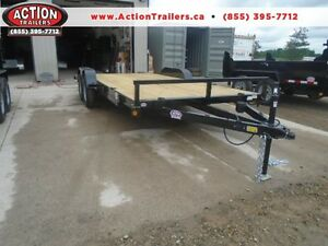 OPEN DECK CAR HAULER 7X18 QUALITY MADE - GET MORE UPGRADES FREE London Ontario image 1
