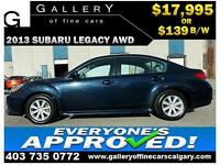 2013 Subaru Legacy 2.5i AWD $139 bi-weekly APPLY NOW DRIVE NOW
