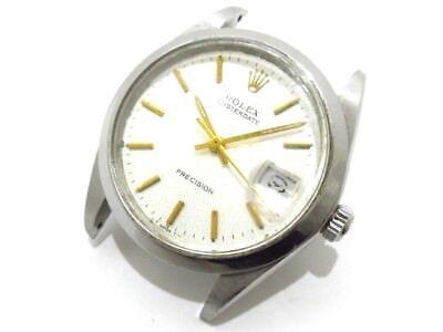 Auth ROLEX Oyster Date Precision 6694 Silver 2649788 Men